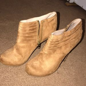 Camel colored booties!